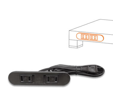 ST-053 2 PORT EXTENSION SOCKET WITH MOVABLE COVER